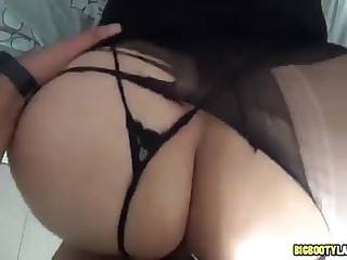 Big white ass shaking it and then fucked hard
