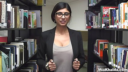 In the Library with Mia Khalifa