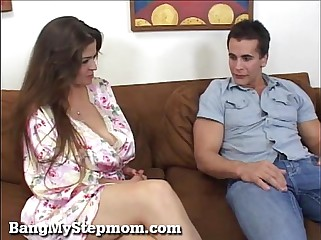 Newly Married MILF Is Horny For Her Stepson!