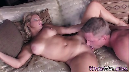 Busty milf gets cum dump