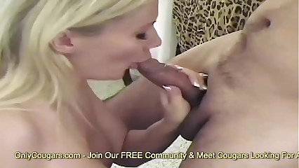 Busty Blonde MILF Karina Swallows A Big Cum Load