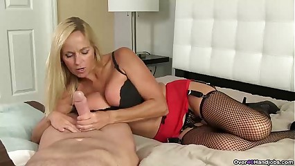 ov40-Blonde milf POV jerking off
