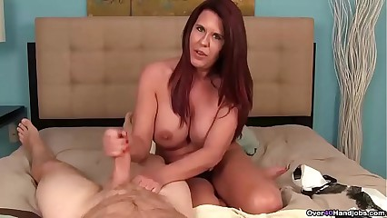 over40-Busty milf POV jerking