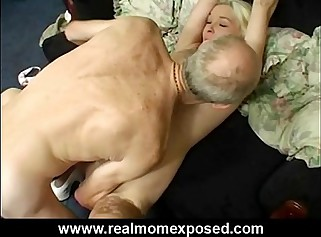 Sexy blonde milf Louise homemade banging
