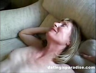 Blonde Milf Opens Ass For Husband