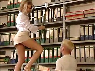 Sexy Librarian in Mini-Skirt - http:// /freemovies89