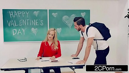 Hot Teacher Brandi Love Desperate For V-Day Dick