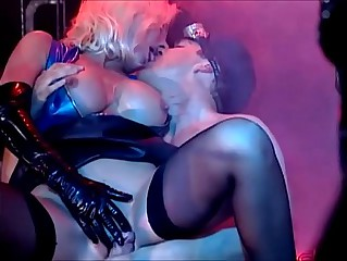 Beautiful Blonde in Latex, Fucked Hard and Sucks Big Cock, Helen Duval.