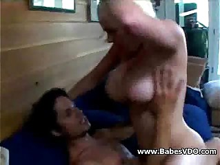 Young Busty  blonde mom stepson