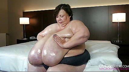 Absolutely huge natural boobs granny