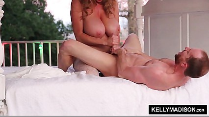 KELLY MADISON Sundown Stroking On the Patio