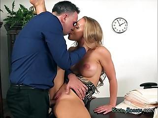 Curvy Secretary Nicole Aniston Gets Pussy Drilled Hard