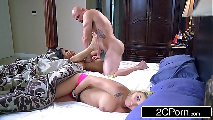 Stepsibling Slumber Party - Blonde Bimbo Marsha May & Ebony Cutie Nicole Bexley