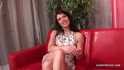 Sublime busty french milf deep anal fucked and cum to mouth for her casting