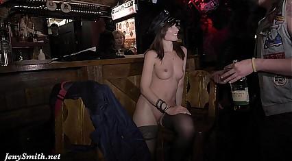 Jeny Smith public nude on stage
