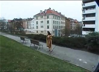 Gwen C nude in public 1