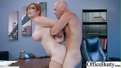 Sex Scene In Office With Hot Busty Superb Girl (Lauren Phillips) video-17