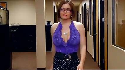 Busty milf seeking boy in the office.SIF