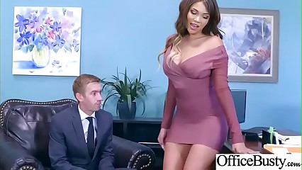 Slut Sexy Girl (Cassidy Banks) With Big Round Boobs In Sex Act In Office video-08