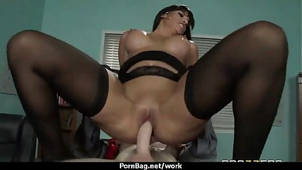Big Titted Babe Gets Fucked Hard in the Office 7