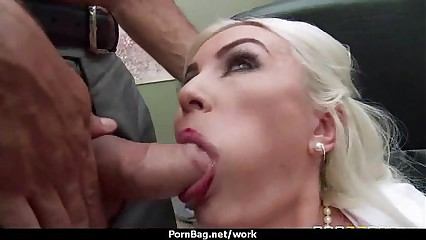 Big titted office MILF fucks at work 7