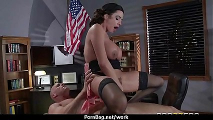 Busty hottie has hardcore office affair 27