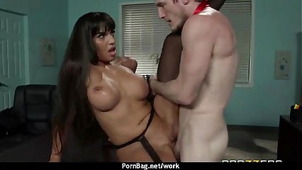 Horny Big-tit MILF fucks employee's big-dick in the office 1