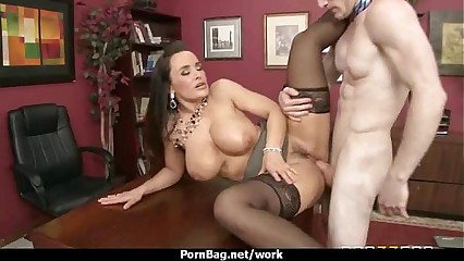 Horny office lady fucked hard uncensored 9