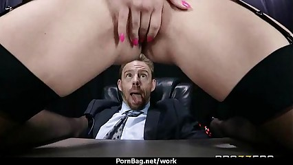 Busty Babe Fucking Her Boss In The Office 6