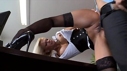 Busty German Mom Fucking In The Office
