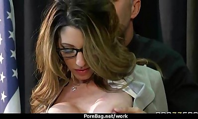 Hottest office fuck with busty chick 18