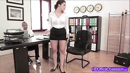Secretary Valentina Nappi gets fucked hard by her boss at the office