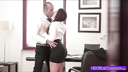 Hot Secretary Valentina Nappi fucked by his boss inside the office
