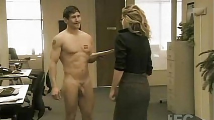 Kathleen Robertson Fantasizing Nude Men In Office