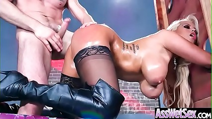 (Bridgette B) Big Butt Oiled Girl Love Deep Hard Anal Sex clip-11