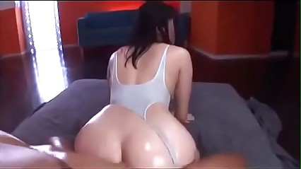 amazing asian girl oiled gets fucked
