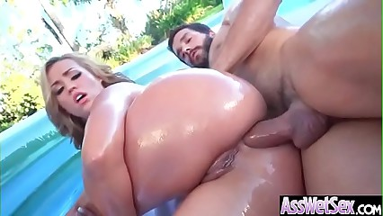 (Kelsi Monroe) Big Oiled Ass Girl Enjoy Deep Anal Intercorse clip-24
