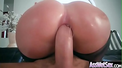 Hot Oiled Girl (Brooklyn Chase) With Huge Ass Enjoy Anal Sex vid-14