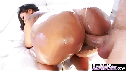 Kinky Hot Girl (kiara mia) With Big Butt Get Oiled And Anal Nailed video-15