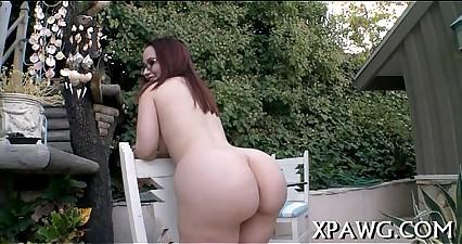 Sexy fuck of oiled massive booty