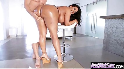 Naughty Girl (kiara mia) With Big Round Oiled Butt Take It Deep In Her Ass  clip-16