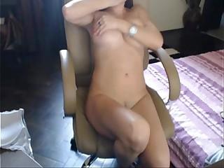 Busty toying to orgasm