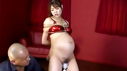 Pregnant Asian Tied And Vibrated To Orgasm