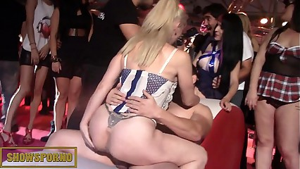 Spanish pornstars orgy on stage