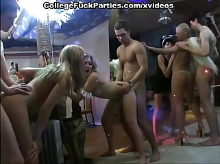 Costumed party turns into college orgy with lavish cumshots