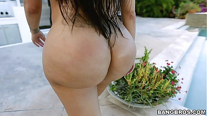Monster Ass by the pool