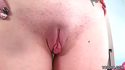 Teen Hanna Lay with big clit getting fucked