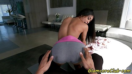 POV fucked european babe enjoys doggystyle