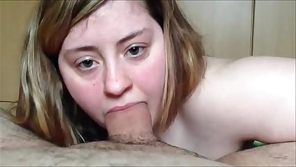 Young Gatty Sucks a Fat Cock - POV