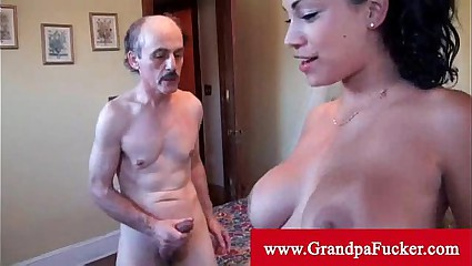 Jamie valentine orally pleasured by old man